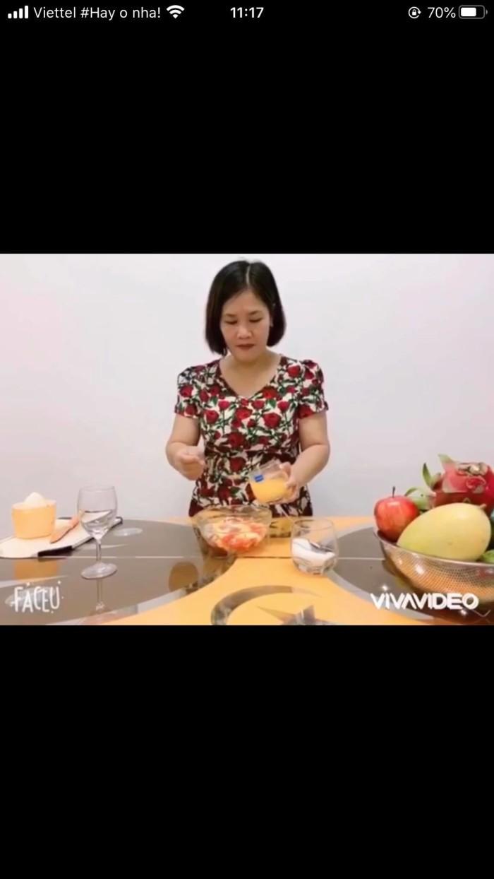 Hình ảnh video hướng dẫn trái cây trộn nước cam